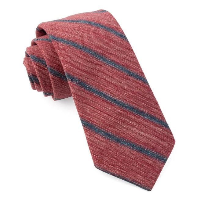 North Border Stripe Raspberry Tie