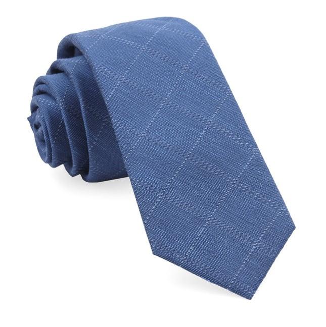 Plaid Stat Classic Blue Tie