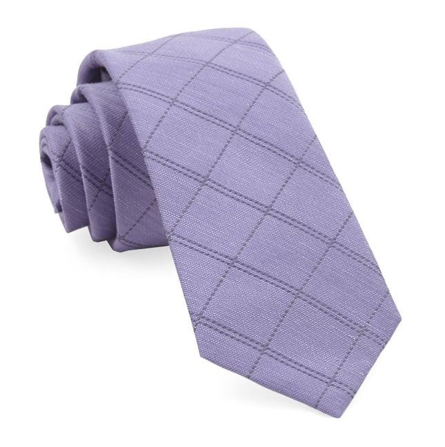 Plaid Stat Lavender Tie