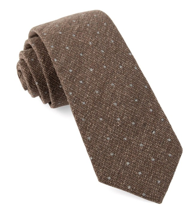 Redwood Dot Brown Tie