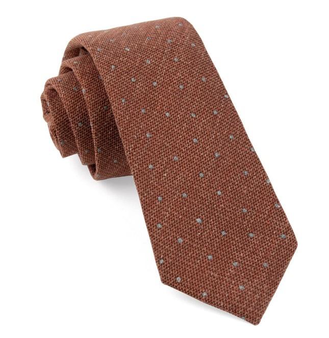 Redwood Dot Burnt Orange Tie