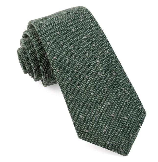 Redwood Dot Hunter Green Tie
