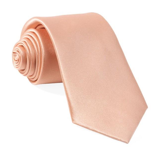 Solid Satin Blush Pink Tie