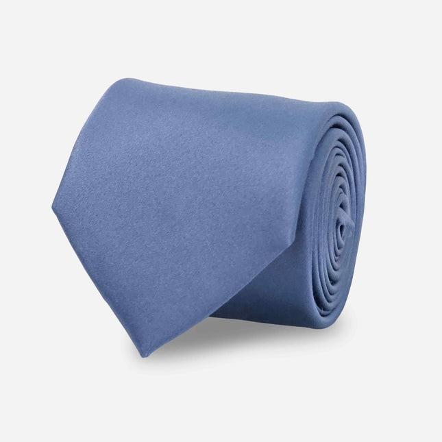 Solid Satin Slate Blue Tie