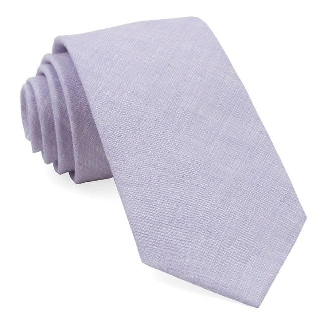 South End Solid Lavender Tie
