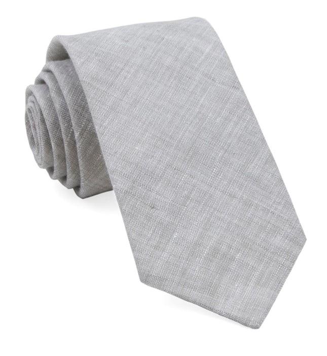 South End Solid Grey Tie