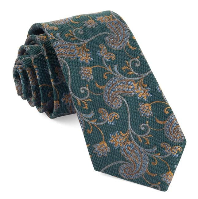 Trad Paisley Hunter Green Tie