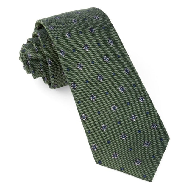 Happy Trails Geo Army Green Tie