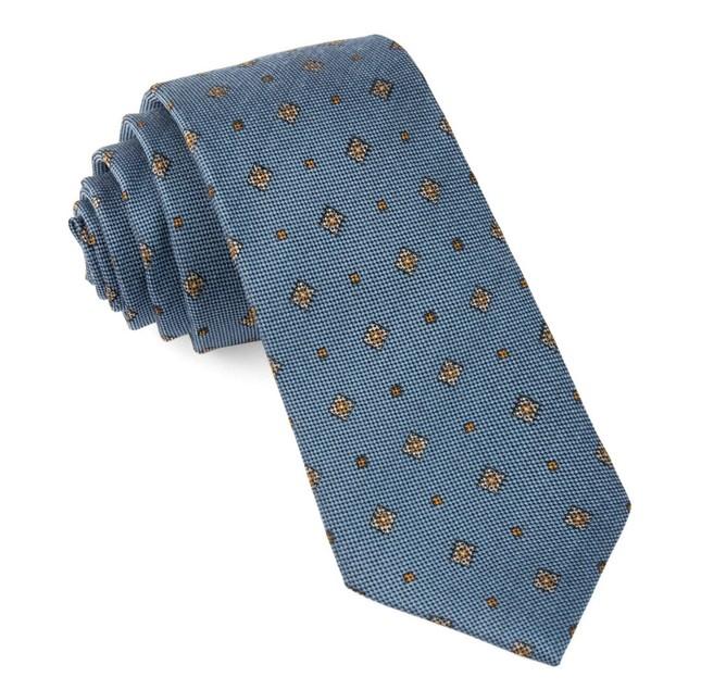 Happy Trails Geo Slate Blue Tie