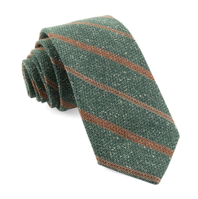 Cargo Stripe Hunter Green Tie