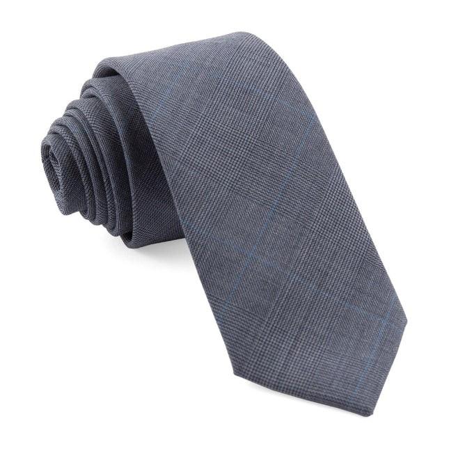 Knick Plaid Blue Tie