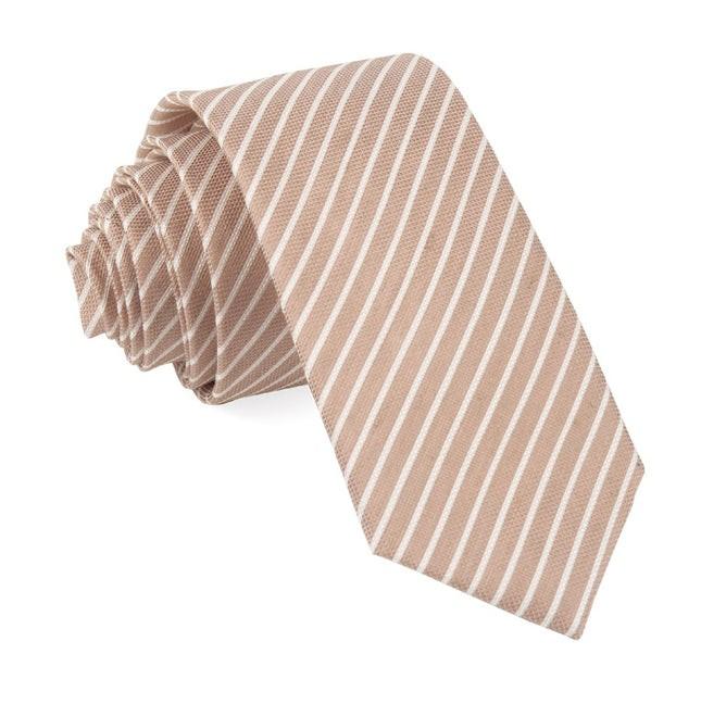 Bhldn Pier Stripe Rose Quartz Tie