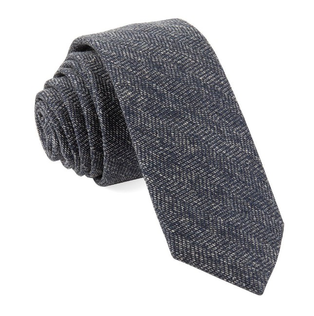 Bhldn Threaded Zig-Zag Navy Tie