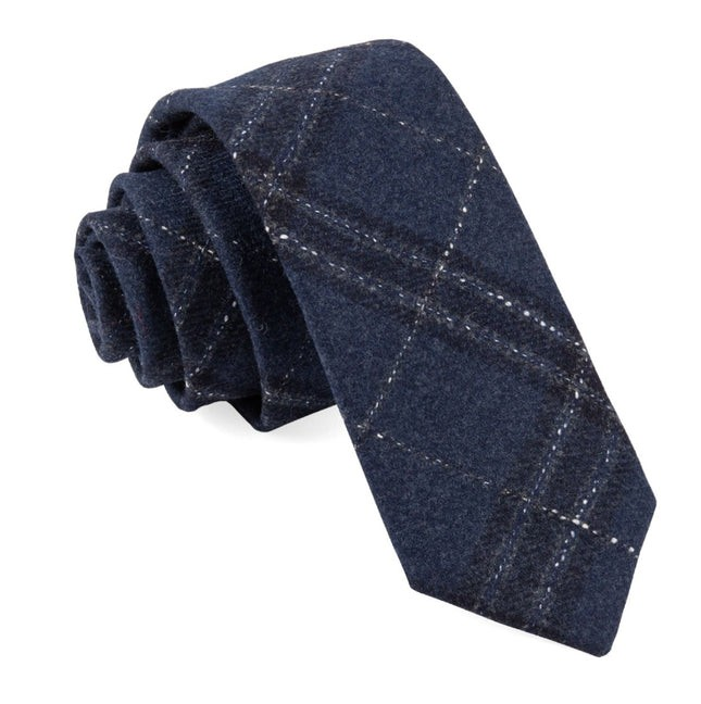 Barberis Wool Sotto Blue Tie