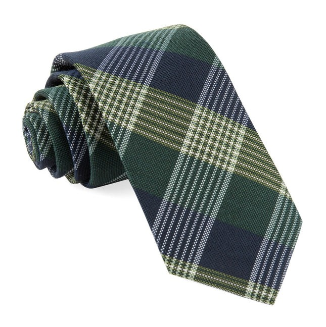 Oxford Plaid Hunter Green Tie