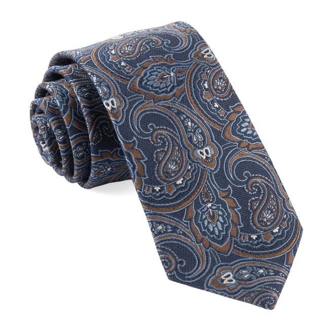 Tailored Paisley Navy Tie