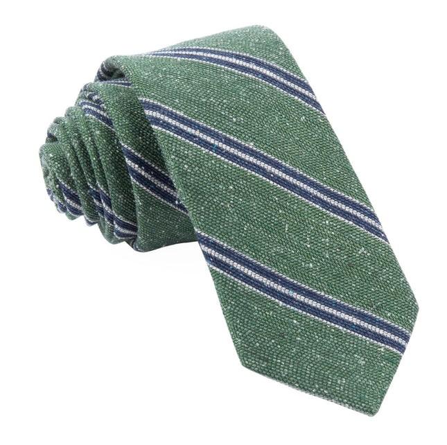 Drift Stripe Green Tie