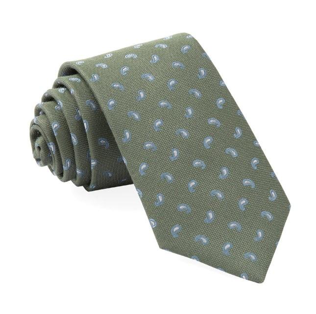Prime Paisley Sage Green Tie