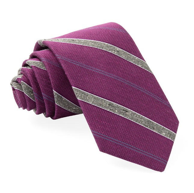 Scruff Stripe Azalea Tie