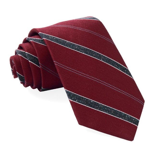 Scruff Stripe Burgundy Tie
