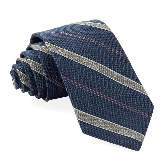 Scruff Stripe Navy Tie