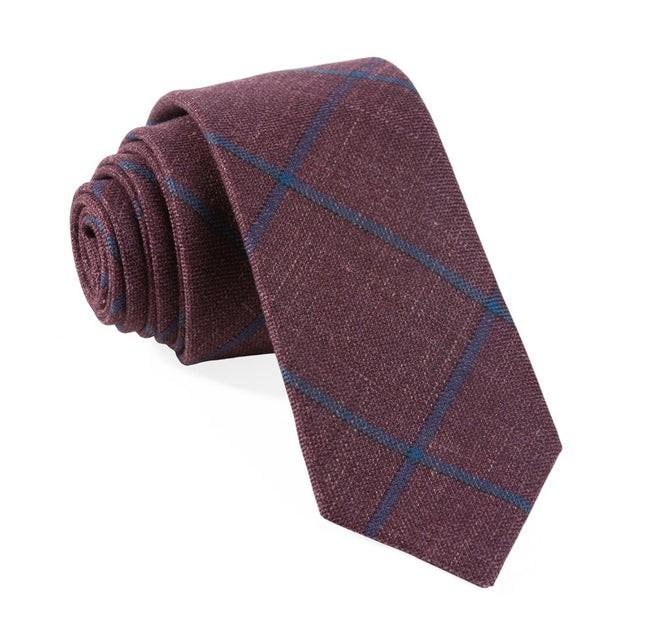 Barberis Rosso Burgundy Tie