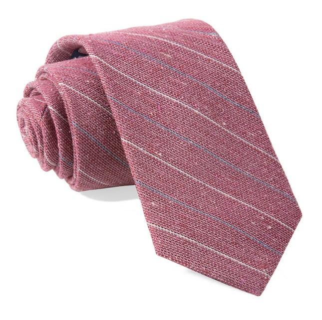 Longway Stripe Raspberry Tie