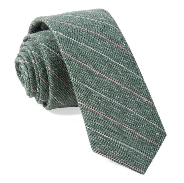 Longway Stripe Hunter Green Tie