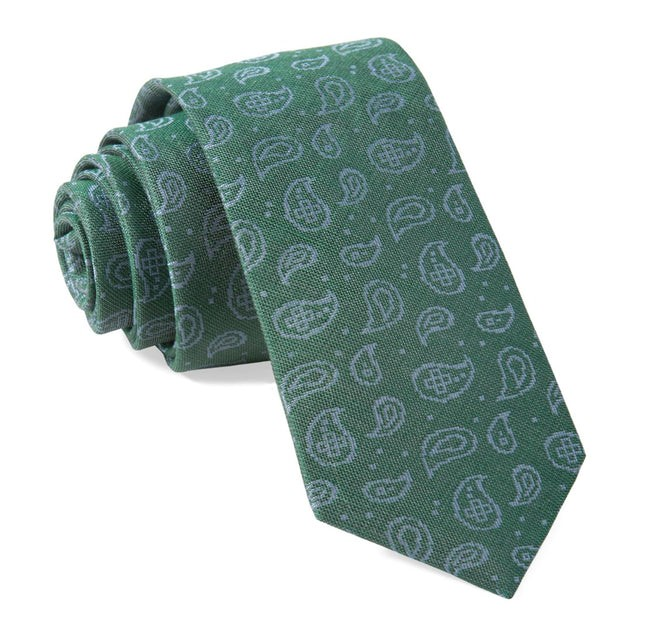 Paisley Riot Hunter Green Tie