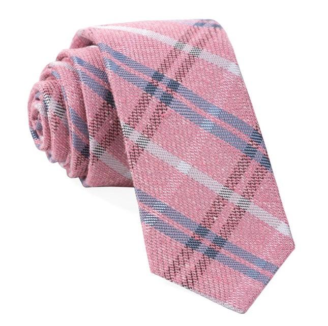 Plaid Drift Pink Tie