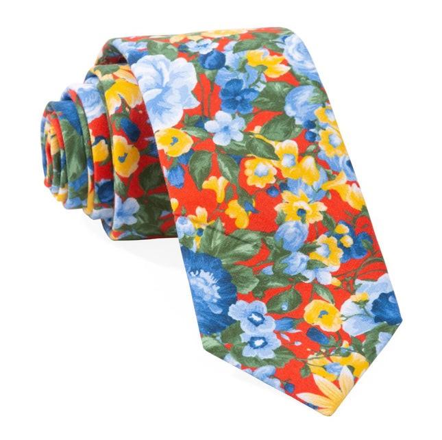 Roam Floral Red Tie