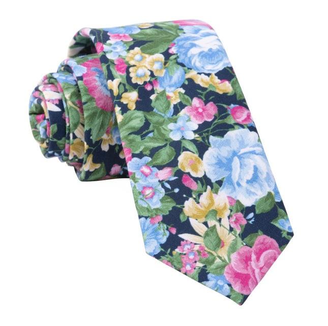 Roam Floral Navy Tie