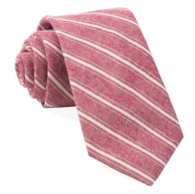 Seaboard Stripe Raspberry Tie