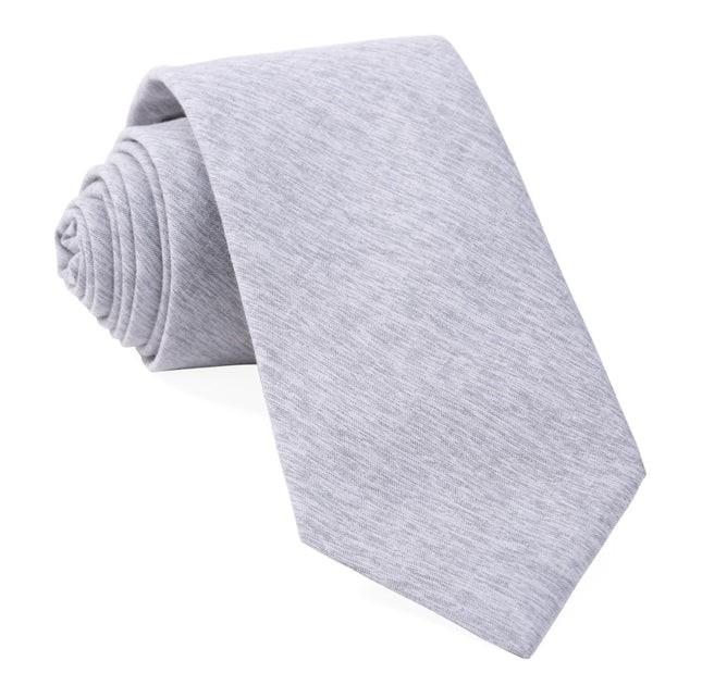 Sunset Solid Grey Tie