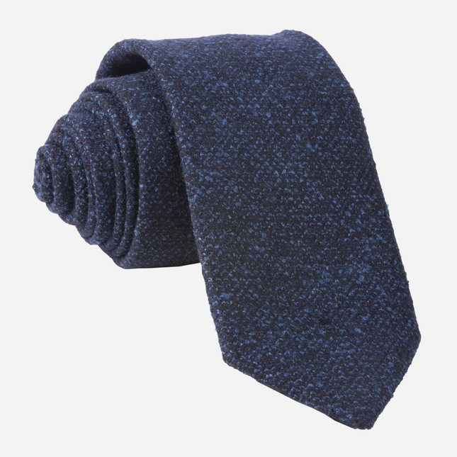 Barberis Wool Vestito Navy Tie