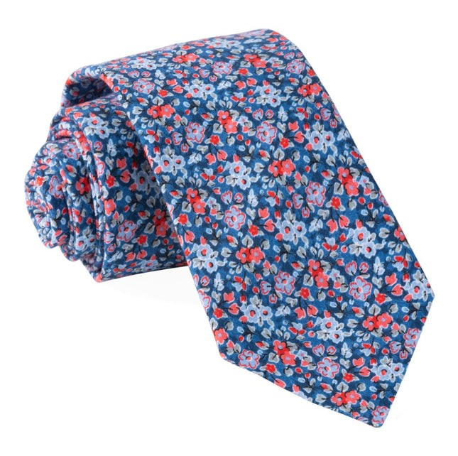 Freesia Floral Navy Tie
