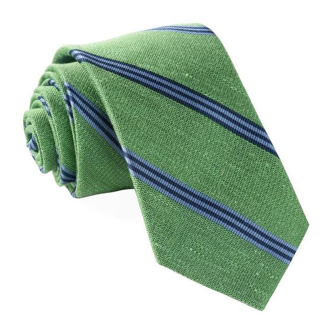 Topside Stripe Green Tie