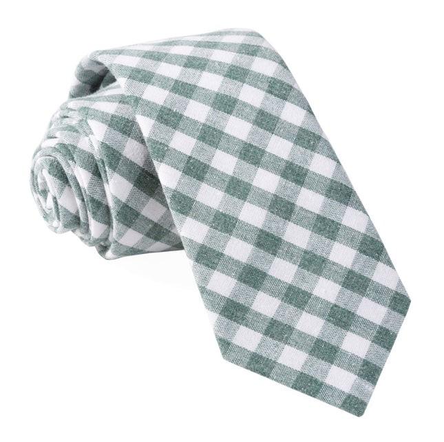 Yacht Checks Green Tie