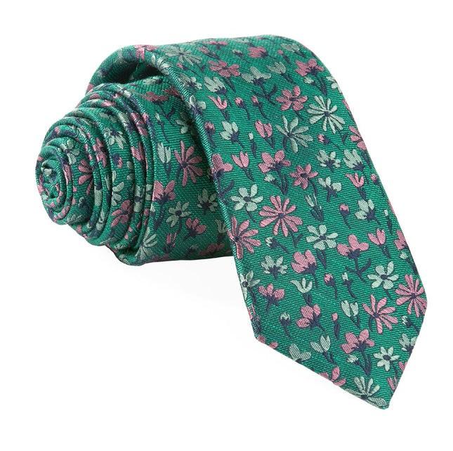 Daffodil Garden Green Tie