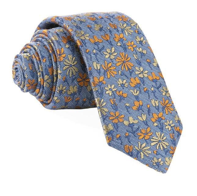 Daffodil Garden Slate Blue Tie