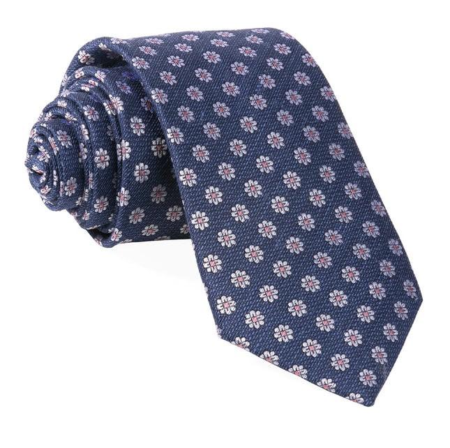 Medallion Daisy Navy Tie