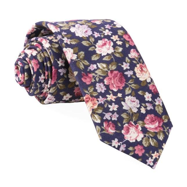 Moody Florals Navy Tie