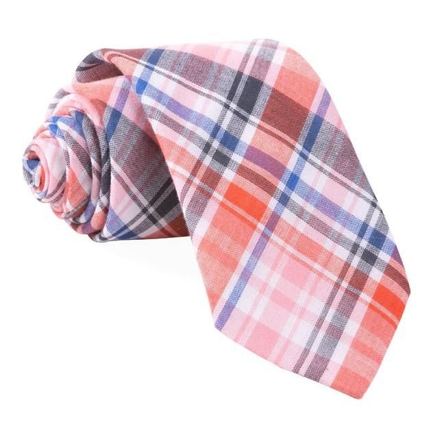 Plaid Umbra Red Tie