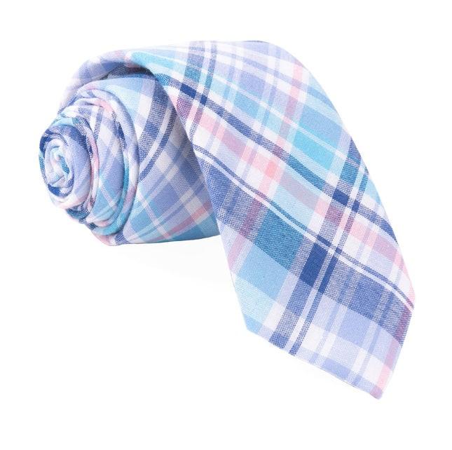 Plaid Umbra Turquoise Tie