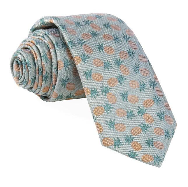 Summer Pineapple Fruit Sage Tie