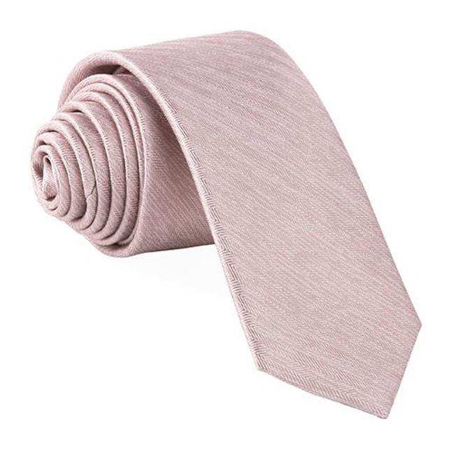 Mumu Weddings - Desert Solid Neutral Mauve Tie