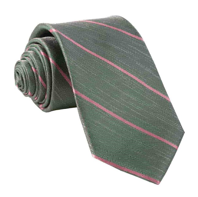 Summer Rays Olive Green Tie