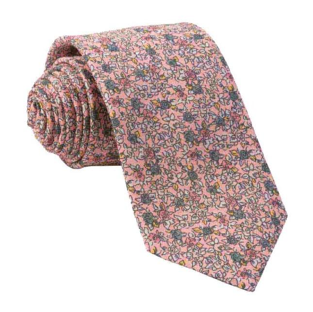 Wild Rosa Peach Tie