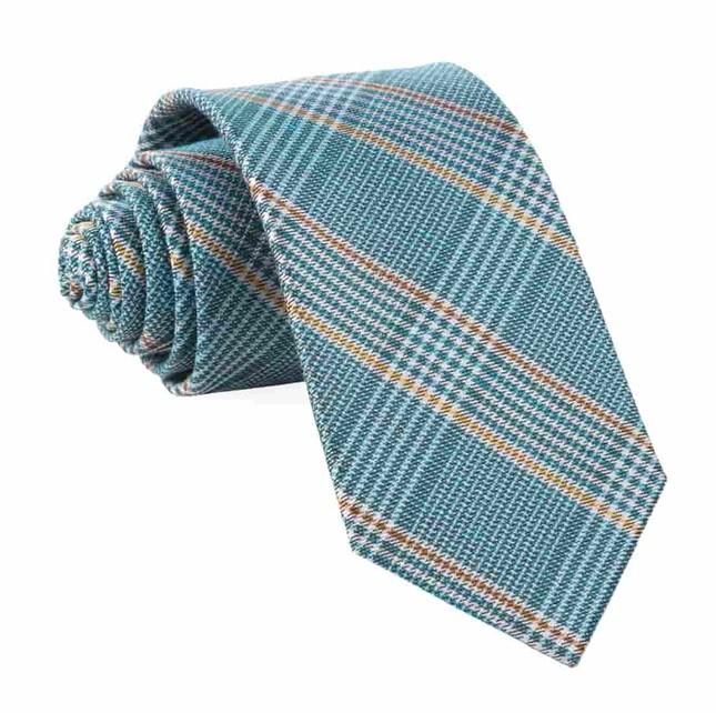 Bay Plaid Teal Tie