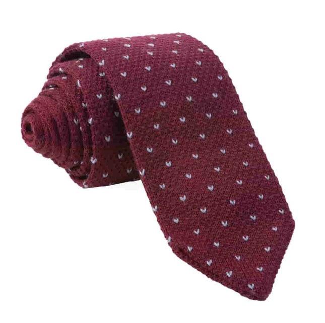 Birdseye Knit Burgundy Tie